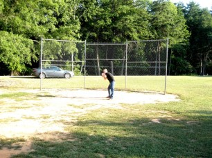No matter how old you are, you are NEVER to old for a game of imaginary baseball!