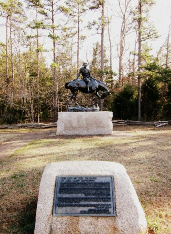 This sculpture was created by none other then Anna Hyatt Huntington of Huntington Beach State Park