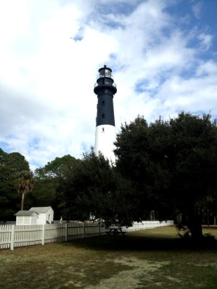 The lighthouse at Hunting Island State Park located in Beaufort.