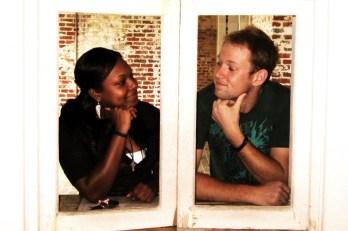 Best friends Destinee Kibler and Michael Tolbert.