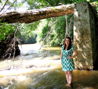 Brooke at Musgrove Mill one of the 47 State Parks located in SC.