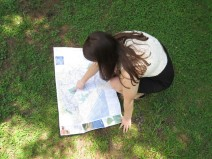 Brooke chooses her next destination for her senior photos.