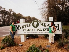 Aimeé Salazar and Destinee Kibler at Myrtle Beach State Park