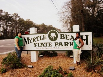 Aimeé Salazar and Destinee Kibler at Myrtle Beach State Park