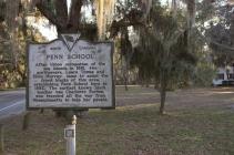 Penn School historical marker. (2/2)