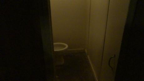 The bathroom where Elsa is found dead.