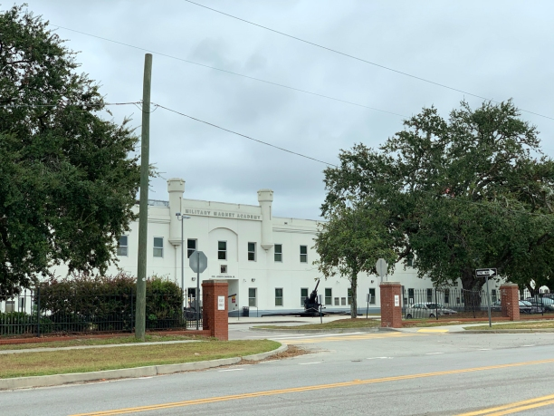 Exterior of Magnet Military Academy the location used for Smith's Grove Sanitarium.