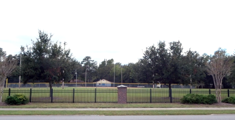 To the left of the screen is where Laurie stood watching Allyson while she was in class. To the left was where Cameron and Oscar waited for Allyson after school, which became a deleted scene.